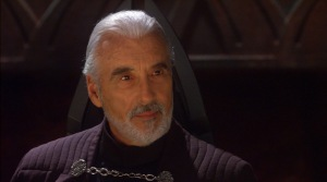 Oft-maligned, Christopher Lee's wonderful performance as Count Dooku is given purpose by the power of the Saga's metanarrative.